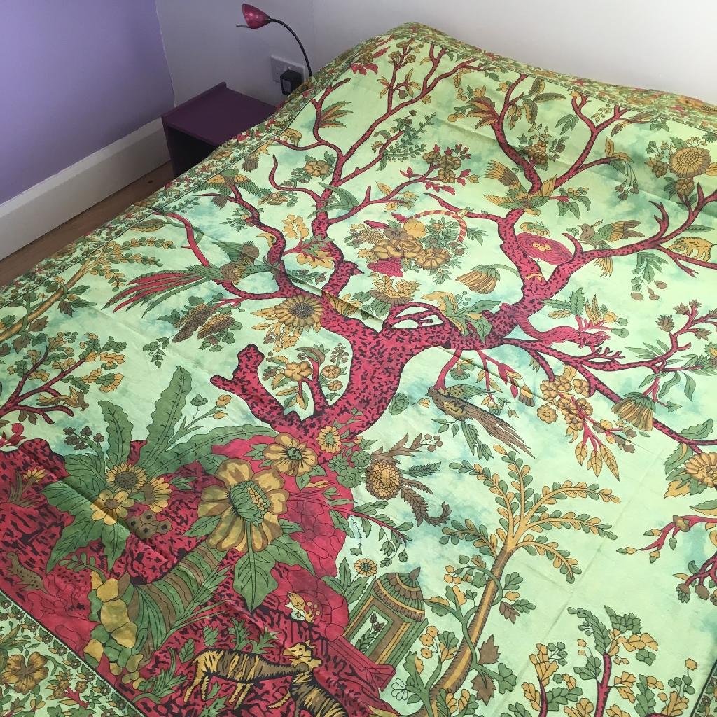 Green Tree of Life Bedspread