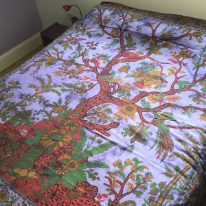 Purple Tree of Life Bedspread