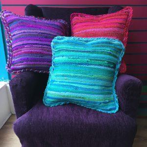 Braided Cotton Chindi Cushion