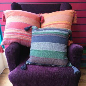 Woven Stripy Cushion
