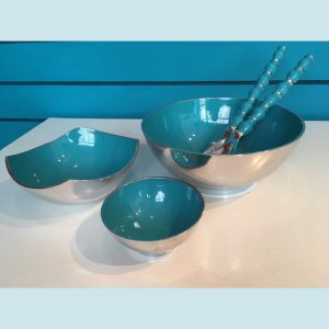 Aqua Recycled Aluminium Salad Range